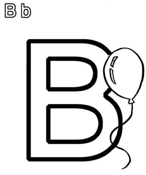 Free Coloring Pages Of Bubble The Letter B B Coloring Page