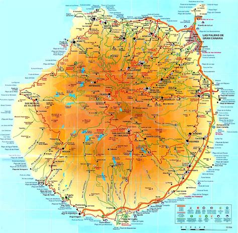 printable map gran canaria kaart gran canaria digtotaal
