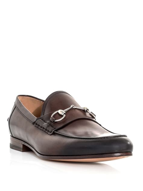 brown gucci loafers gucci snaffle loafers in brown for lyst