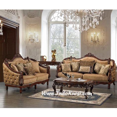 Kursi Sofa Kayu jual set kursi tamu sofa kayu jati desain kursi tamu mewah