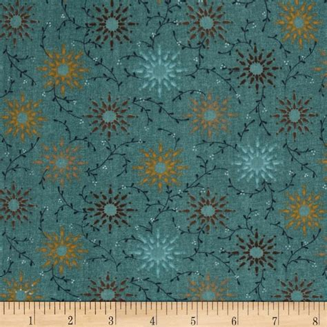 Wide Back Quilt Fabric by 108 Quot Wide Quilt Backing Prairie Vine Teal Discount Designer Fabric Fabric