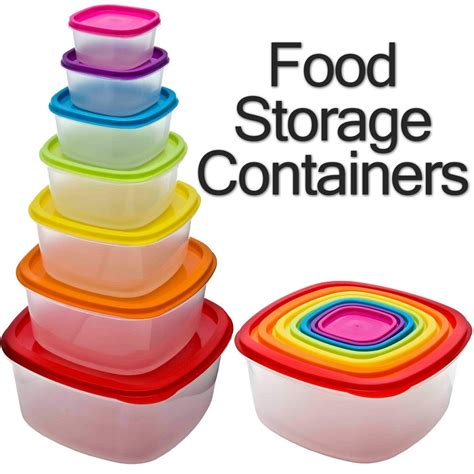 plastic containers for food storage 7 x clear plastic tupperware food storage box containers