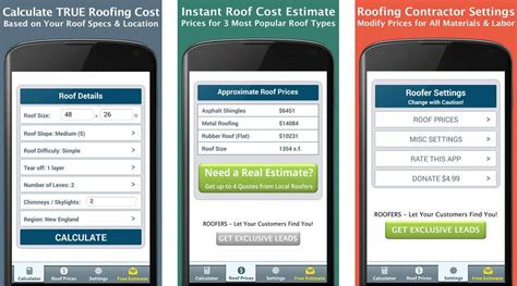 roofing apps  android  iphone roofcalcorg