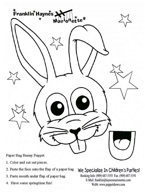 easter bunny paper bag puppet template 153 best images about puppets on theater