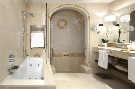 y bathroom deluxe room with roman bath el palace hotel barcelona
