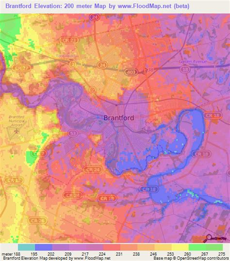 elevation map of usa and canada elevation of brantford canada elevation map topography