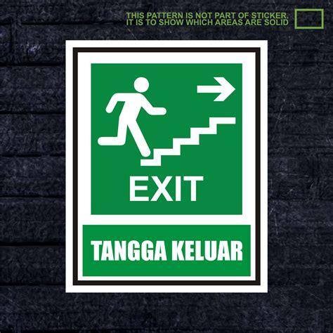 Wskpc161 Sticker K3 Safety Sign Warning Sign Bahan Berbahaya jual wskpc138 sticker k3 warning sign exit tangga keluar