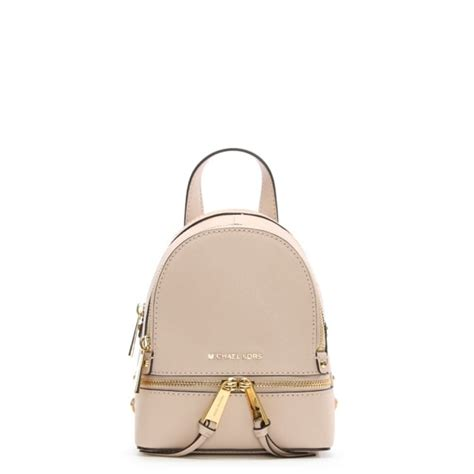 Tas Ransel Michael Kors Mk Rhea Mini Backpack Original michael kors rhea mini soft pink leather zip backpack
