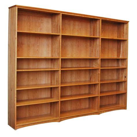 cherry triple bookcase furniture american hwy