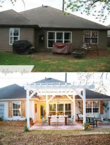 before and after an backyard patio makeover