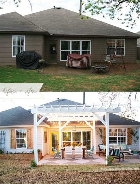 concrete backyard makeover before and after an unbelievable backyard patio makeover