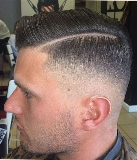 zero fade hairstyle zero low fade side part barbershops pinterest signs