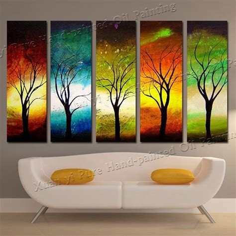 wall painting trees2018 20 collection of abstract nature canvas wall wall ideas