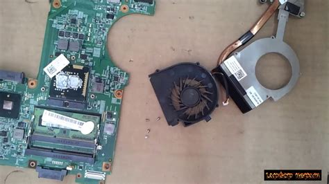 Fan Laptop Dell 4030 dell inspiron 4030 disassembly and fan cleaning laptop repair