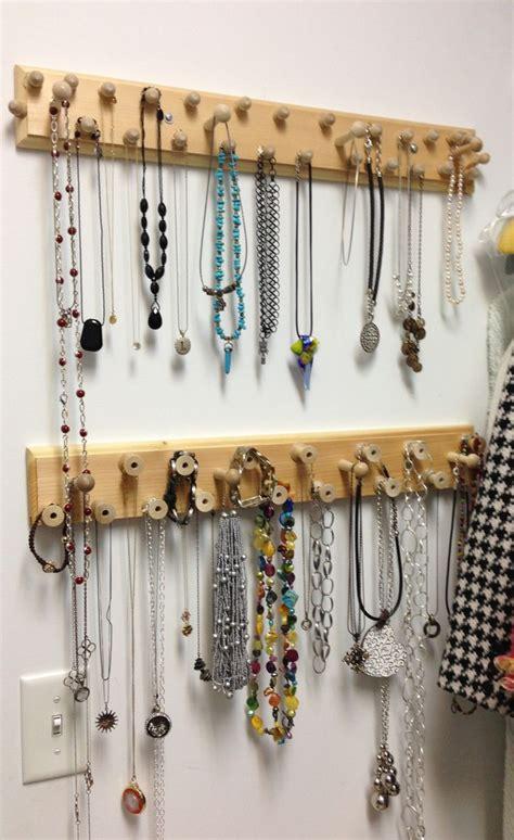 diy necklace organizer diy jewelry organizer jewelry