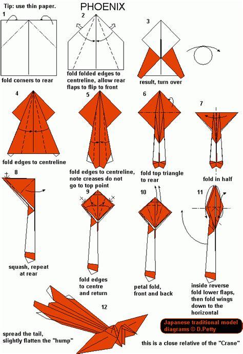 origami 3d phoenix tutorial mom 110 phoenix origami pinterest origami phoenix