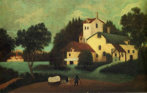 Wagon In Front Of The Mill Henri Rousseau Wikiart Org