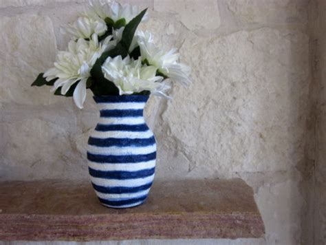 Navy And White Vase Navy Blue And White Vase Glass And Stucco By