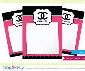 fashioned baby shower invitations coco chanel tiny notes printable diy for a high fashion
