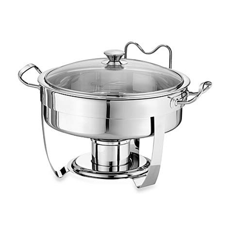 chafing dish bed bath and beyond tramontina 174 5 quart round stainless steel chafing dish
