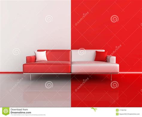red and white couch red and white contrast sofa stock photo image 17105750