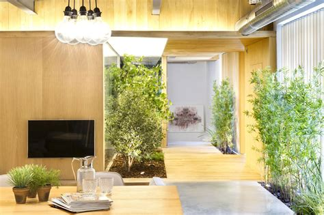 Open Floor Plan Living Room Indoor Garden Loft Style Home In Terrassa Spain