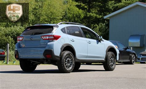 subaru crosstrek lifted blue 2018 subaru crosstrek lift kit tires wheels lp
