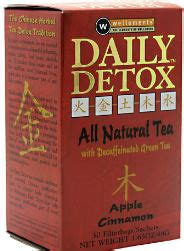 Daily Detox Drink Packets by Daily Detox Apple Cinnamon Caffeine Free 30 Bags 8 15ea