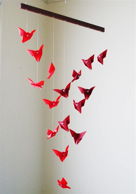 How To Make A Paper Butterfly Mobile - 17 best ideas about origami butterfly on
