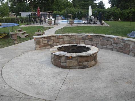 accessorize your patio with a concrete pit design