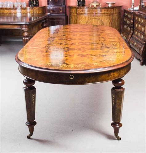 Stunning Bespoke Handmade Burr Walnut 10ft Oval Marquetry Marquetry Dining Table