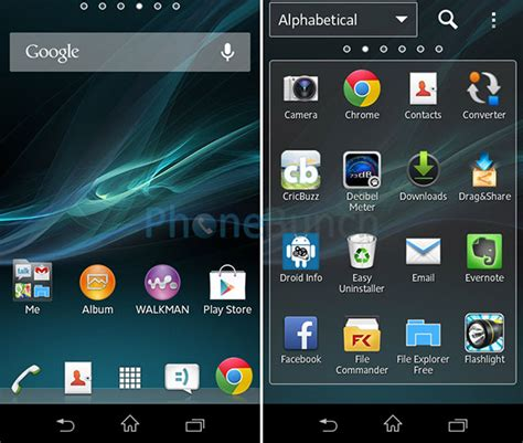 Launcher App Drawer by Sony Xperia M Review