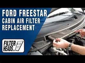 cabin air filter replacement ford freestar