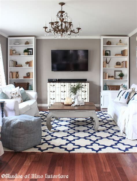 Living Room Rug Shades Of Blue Interiors