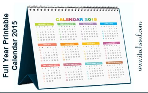 printable whole year calendar 2015 printable full year 2015 calendar new calendar template site