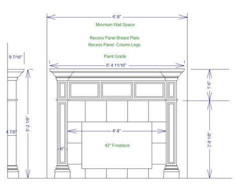 fireplace plan pdf plans plans for building fireplace mantle download