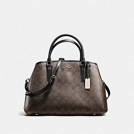 Coach Small Margot Carryall Black coach f58310 small margot carryall in signature imitation gold brown black coach handbags