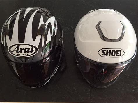 Helmet Shoei Arai Shoei J Cruise Open Helmet From The Arai Signet Q