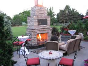 Backyard Patios With Fireplaces » Home Design