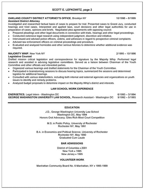 Resume Examples Computer Science by Prosecutor Resume Example District Attorney