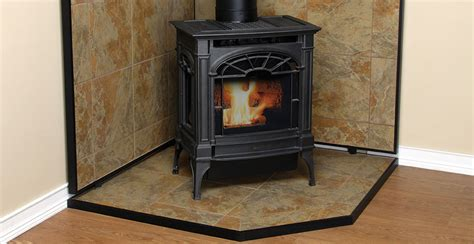 Wood Burning Stove Floor And Wall Protection   Carpet
