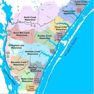 florida intercoastal map watersheds