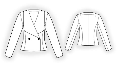pattern drafting for female jacket double breasted jacket sewing pattern 4328 made to