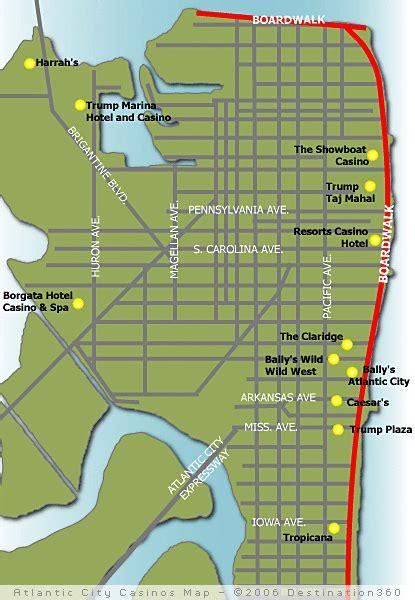 atlantic city map atlantic city casino map map of casinos in atlantic city nj