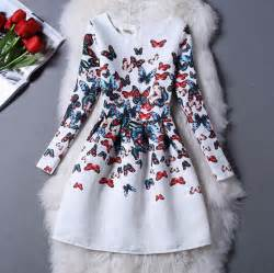 Teenagers girls fashion printed party dresses clothes for size 16