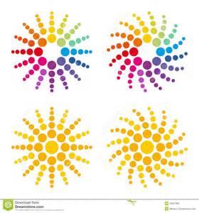 colorful sun colorful sun stock vector image 43507902