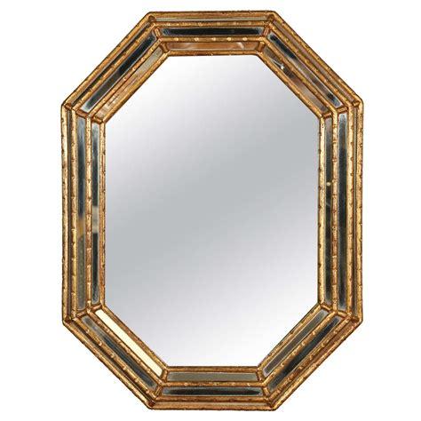 Hexagon Bevelled Mirror 10pcs 1 gold bamboo hexagon shaped mirror at 1stdibs