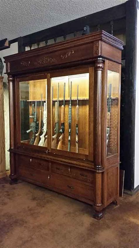 Handmade Gun Cabinets - amish custom antique reproduction gun cabinet amish