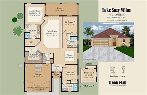 color floor plans color floor plan sle florida villa style simple