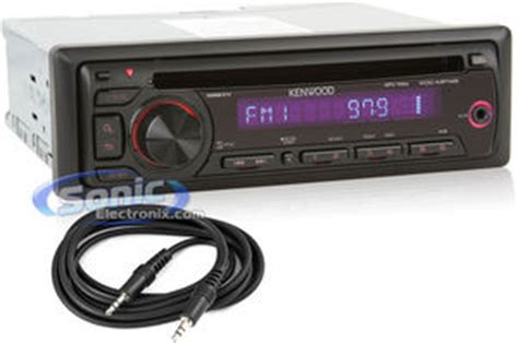 Car Stereo With Aux Port by Kenwood Kdc Mp145 Cd Mp3 Car Stereo W Free Aux Input Cable